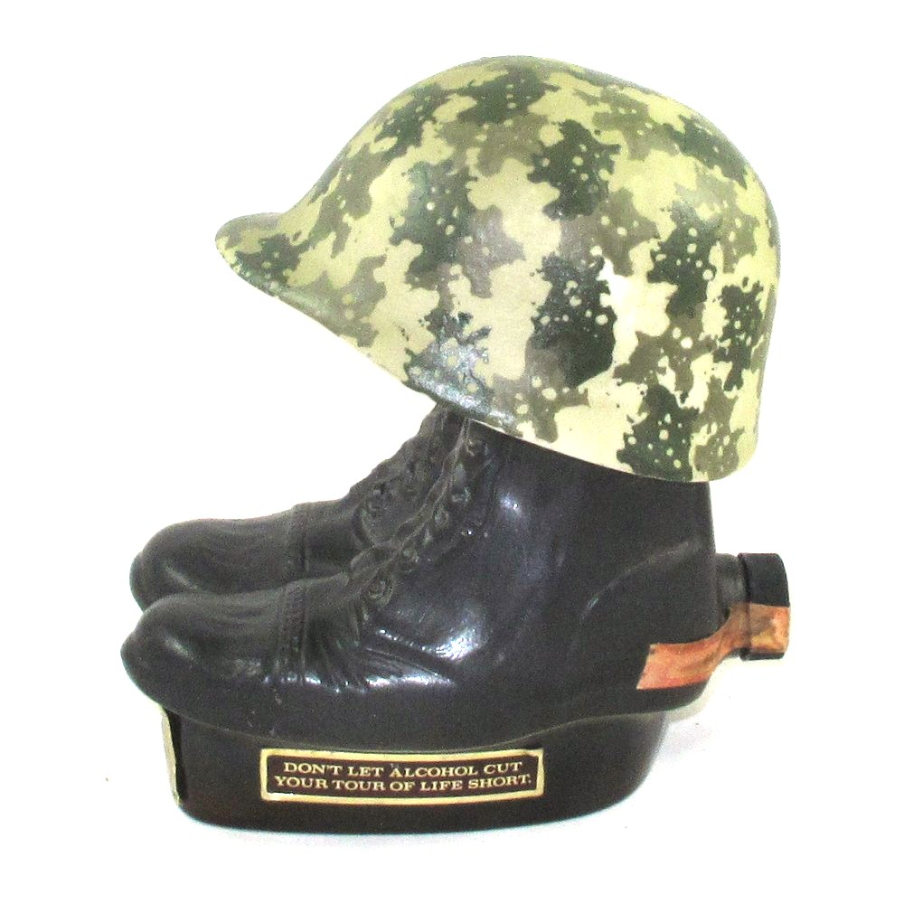 Jim Beam 100 Months Old Boots And Helmet Decanter