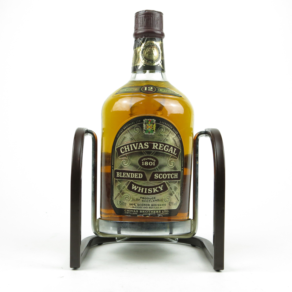 Chivas regal 12 year old litre includes pouring cradle whisky auctioneer scotch - Chivas regal 18 1 liter price ...