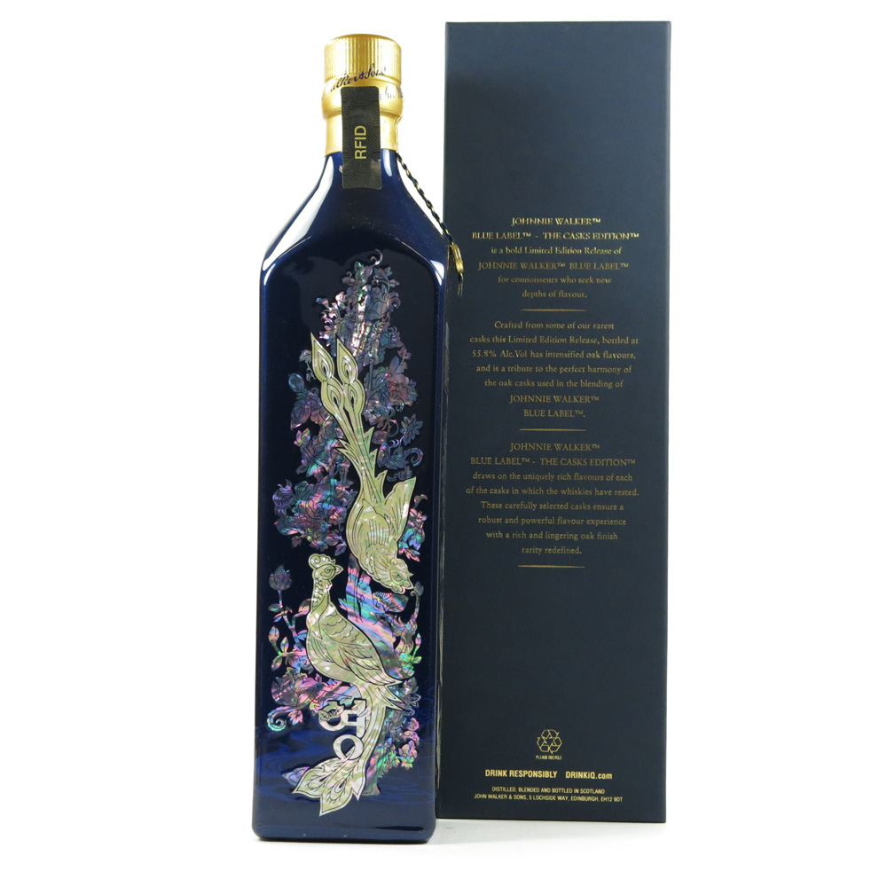 johnnie walker blue label bu gwi yeong hwa the casks edition 75cl whisky auctioneer scotch. Black Bedroom Furniture Sets. Home Design Ideas