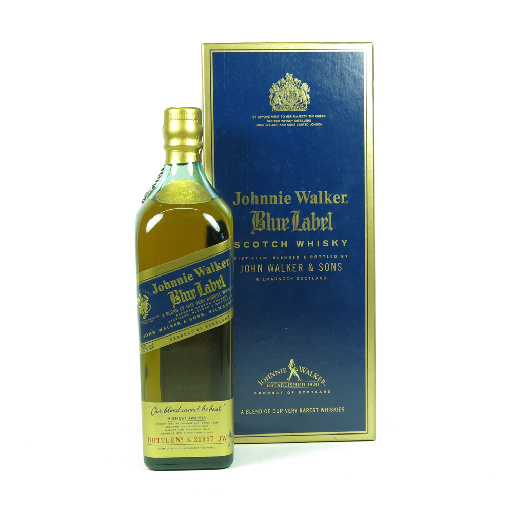 johnnie walker blue label 75cl whisky auctioneer scotch whisky auctions online whisky auction. Black Bedroom Furniture Sets. Home Design Ideas
