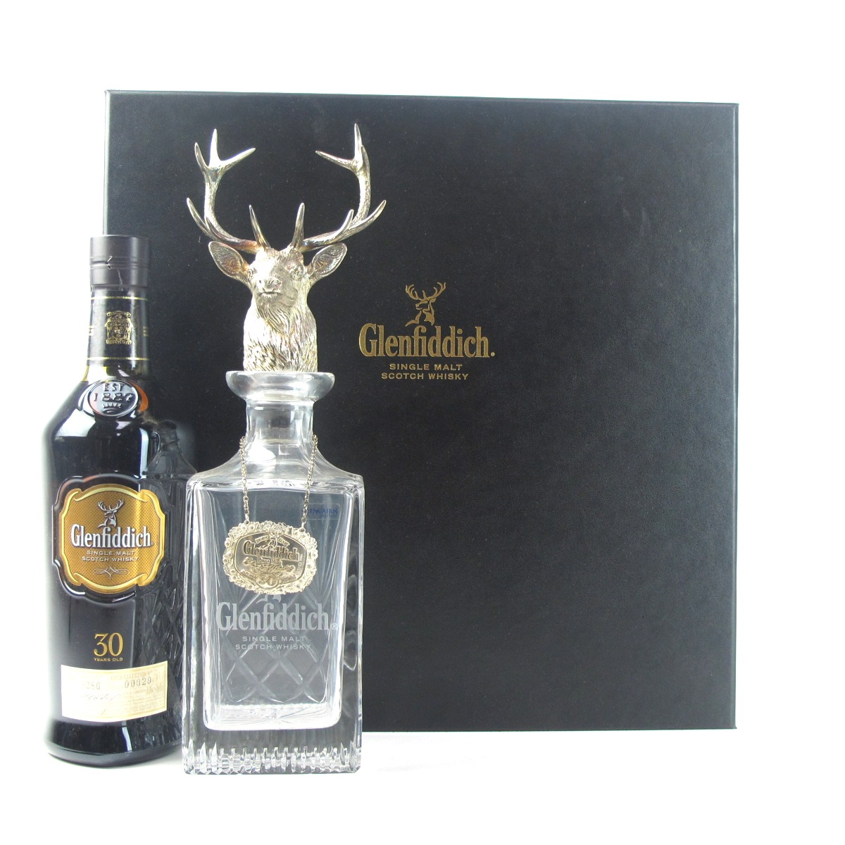 Glenfiddich 30 Year Old Silver Stag S Head Decanter