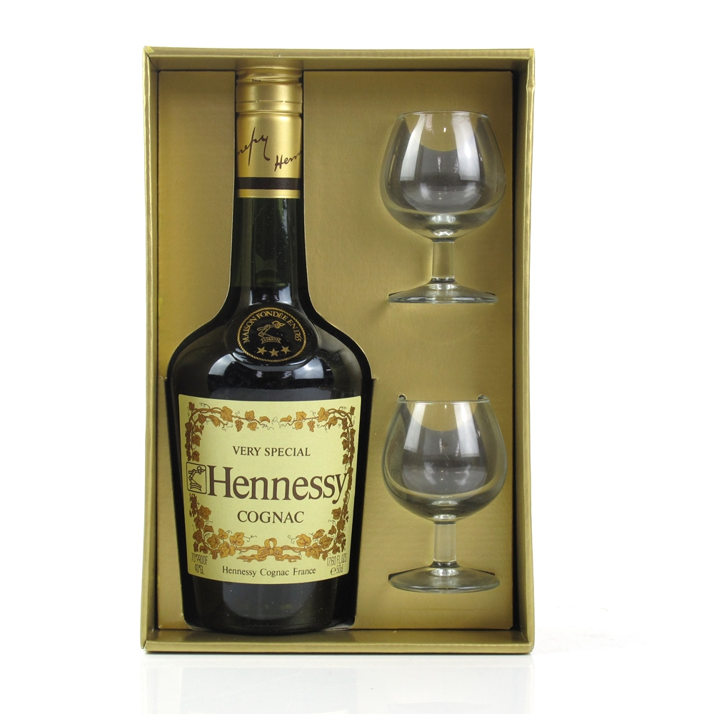 Hennessy Very Special Cognac 1970s Gift Set / Including 2 Glasses ...
