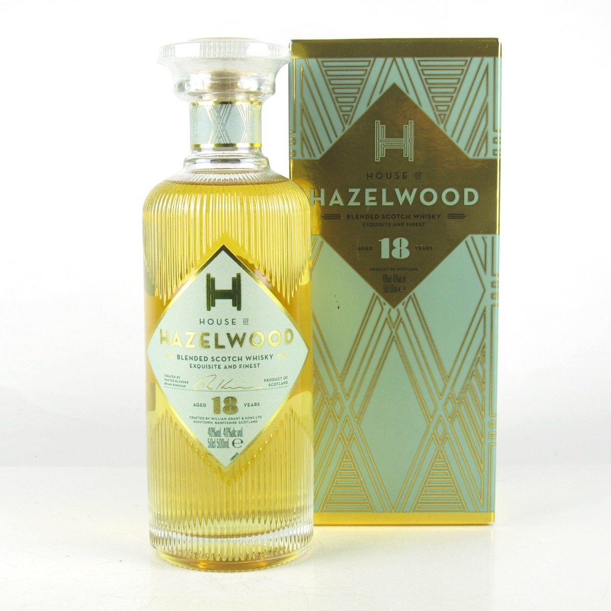 House Of Hazelwood 18 Year Old Blended Scotch Whisky 50cl