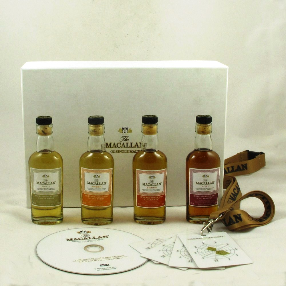macallan 1824 sample pack 4 x 5cl including tasting cards whisky