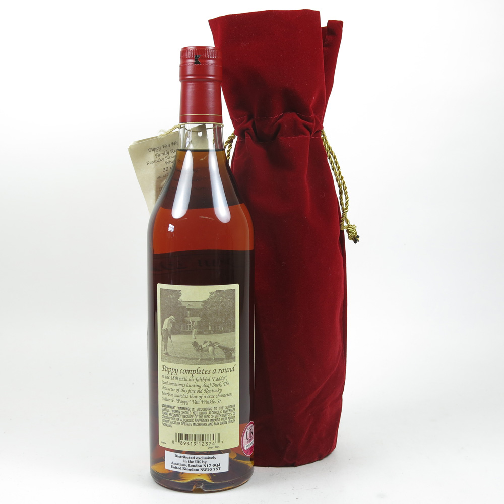 Pappy van winkle family reserve 20 year old whisky auctioneer