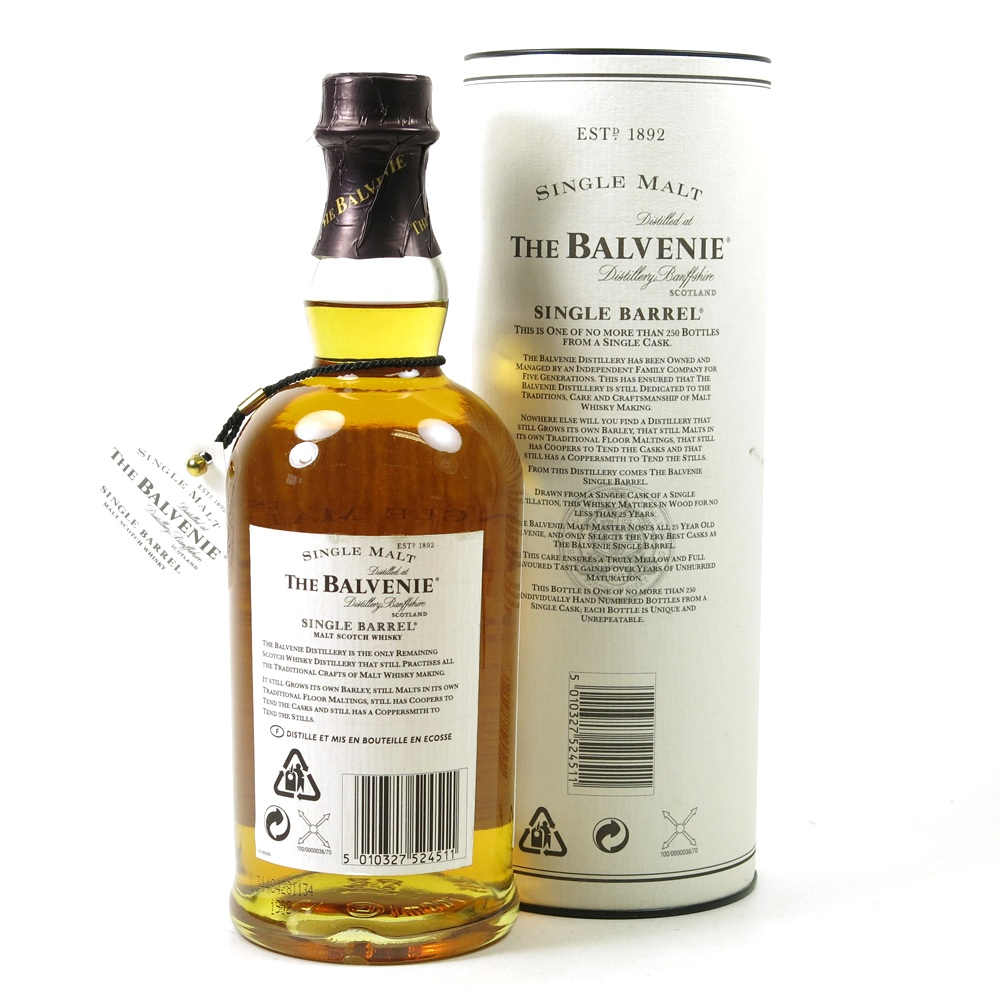 Balvenie 25 Year Old Single Barrel - Whisky Online Auctions