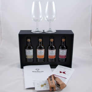 Macallan 1824 Sample Pack Including Glasses 4 x 5cl Full Lot