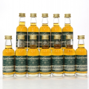 Glendronach 15 Year Old Revival Miniatures 12 x 5cl