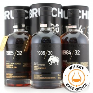 Bruichladdich Rare Cask Trilogy 3 x 70cl / includes Experience