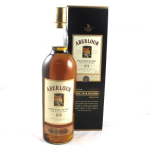 Aberlour 15 Year Old Double Cask Matured 1 Litre Front