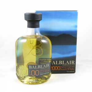 Balblair 2000 (70cl and 5cl) front