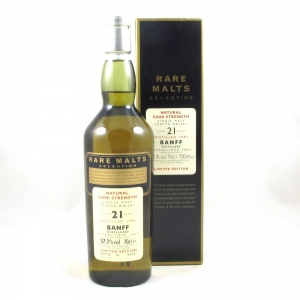 Banff 1982 21 Year Old Rare Malt Front