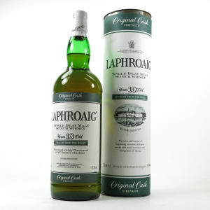 Laphroaig 10 Year Old Original Cask Strength 1 Litre Front