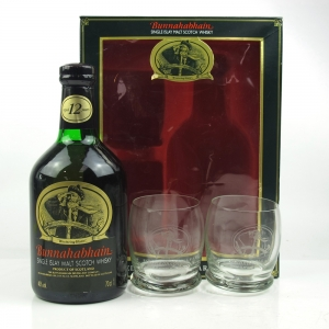 Bunnahabhain 12 Year Old Gift Pack / Including Two Branded Glasses