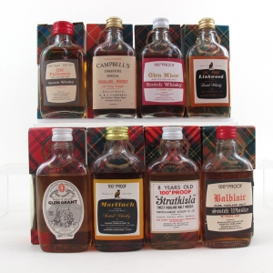 Miscellaneous Highland Malt Miniature Selection 8 x 5cl 100 Proof