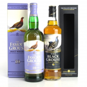 Famous Grouse 10 Year Old Blended Malt & Black Grouse 2 x 70cl