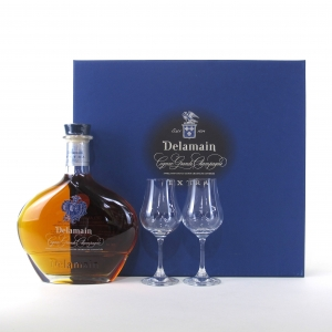 Delamain Extra Grande Champagne Cognac / with Glasses x 2
