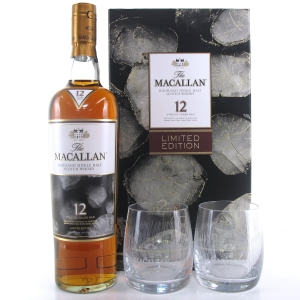 Macallan 12 Year Old Limited Edition Gift Pack / Including 2 x Glasses