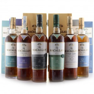 Macallan 10-25 Year Old Fine Oak Collection 6 x 70cl