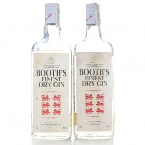 Booth's Finest Dry Gin 1980s 2 x 75cl