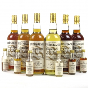 *RETAKE PICS AND INCLUDE INDIVUAL PICS FOR EACH Springbank Millennium Collection including Miniatures 6 x 70cl and 6 x 5cl