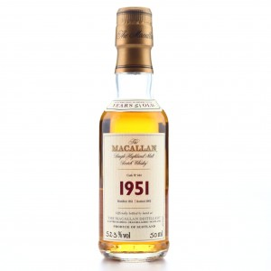Macallan 1951 Fine and Rare 51 Year Old #644 Miniature