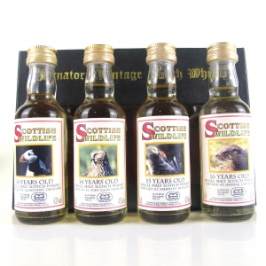 Scottish Wildlife Signatory Vintage Single Malts / Including Port Ellen 4 x 5cl
