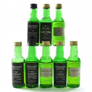 Cadenhead's Highland Miniature Selection 8 x 5cl / including Clynelish 1965 23 Year Old