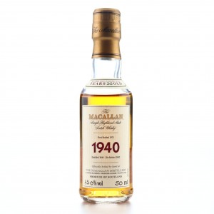 *Macallan 1940 Fine and Rare 35 Year Old Miniature