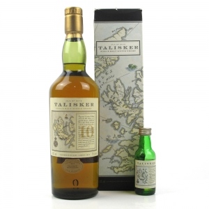 Talisker 10 Year Old Map Label 1990s Including 5cl Miniature