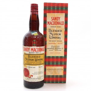 Sandy MacDonald Scotch Whisky 1950s / US Import
