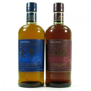 Yoichi Heavily Peated and Miyagikyo Sherry Cask 2 x 70cl