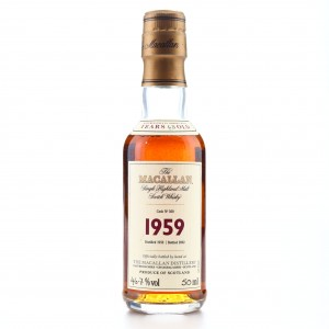 Macallan 1959 Fine and Rare 43 Year Old #360 Miniature