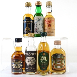 Miscellaneous Whisky Miniatures 7 x 5cl