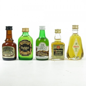Single Malt Miniature 1970s Selection 5 x 1 2/3 Fl Ozs