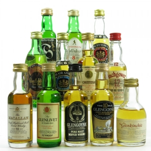 Single Malt Miniature 1980s Selection 12 x 5cl