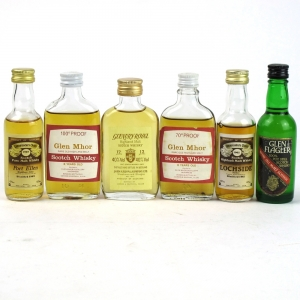 Closed Distillery Miniatures / Including Port Ellen 1969 / 6 x 5cl