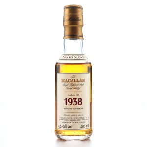 Macallan 1938 Fine and Rare 31 Year Old Miniature