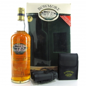 Bowmore 17 Year Old Screen Print 75cl Gift Pack / US Import with Binoculars