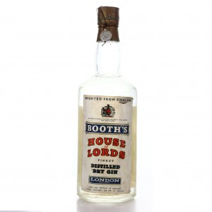 Booth's House of Lords Finest Dry Gin 1950s