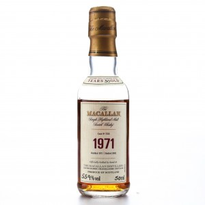 Macallan 1971 Fine and Rare 30 Year Old #7556 Miniature