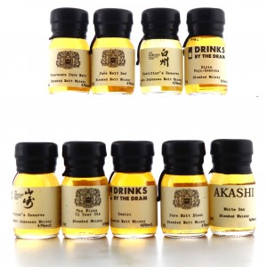 Japanese Drinks by the Dram Miniatures x 9