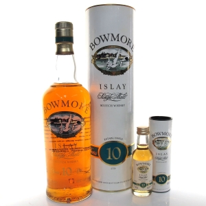 Bowmore 10 Year Old Screen Print / includes Miniature 5cl