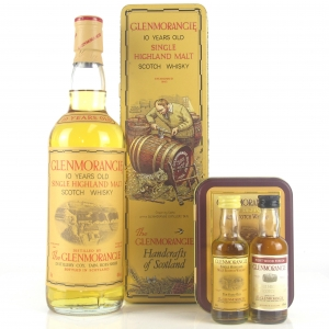 Glenmorangie 10 Year Old 1980s / Including Matching & Port Wood Miniatures 2 x 5cl