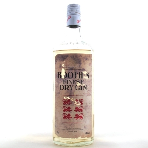 Booth's Finest Dry Gin 1980s