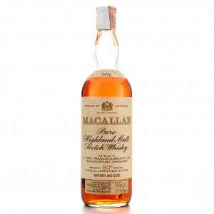 Macallan 1951 Campbell, Hope and King 80 Proof / Rinaldi Import