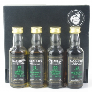 Cadenhead's Miniature Selection 4 x 5cl / Including Glen Moray 30 Year Old