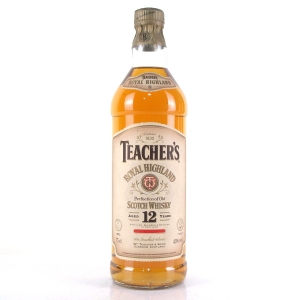 Teacher's Royal Highland 12 Year Old 1980s