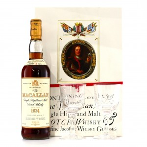 Macallan 1974 18 Year Old & Two Jacobite Glasses