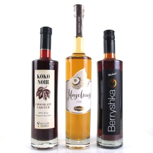 Miscellaneous Nut and Cocoa Liqueurs 3 x 50cl